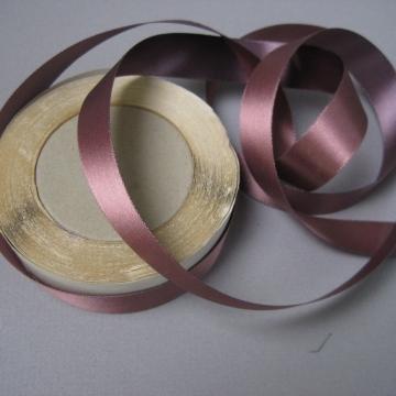 Vintage 30s mauve plum ribbon rayon acetate three quarter inch width