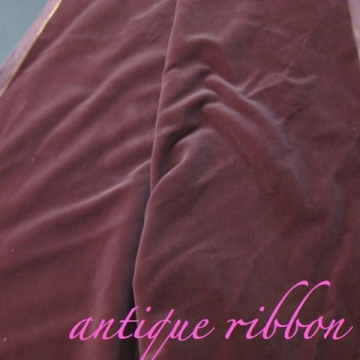 Vintage velvet fabric Germany cotton 34 in W mauve