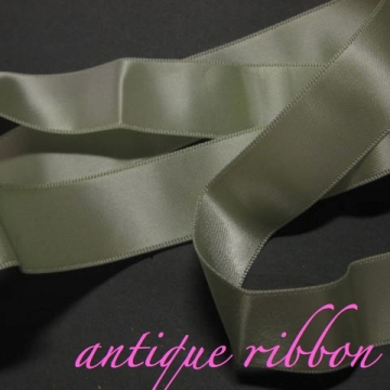 Vintage green Ribbon double sided satin pale lime green