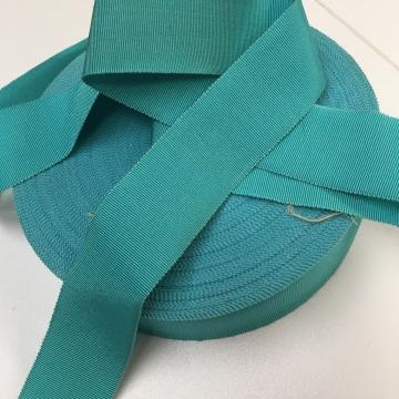 Vintage 30s aqua grosgrain ribbon silk cotton 1-1/2 inch wide