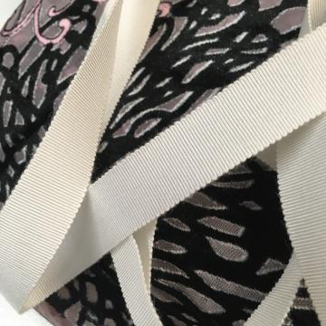 Vintage white grosgrain ribbon rayon/cotton USA made 3/4 inch
