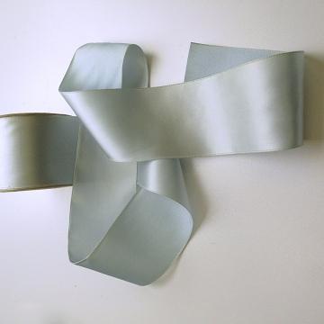 Vintage 30s rayon fabric ribbon pastel blue 2.25 inch W