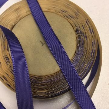 Vintage 40s narrow purple grosgrain ribbon rayon 5/16 inch W