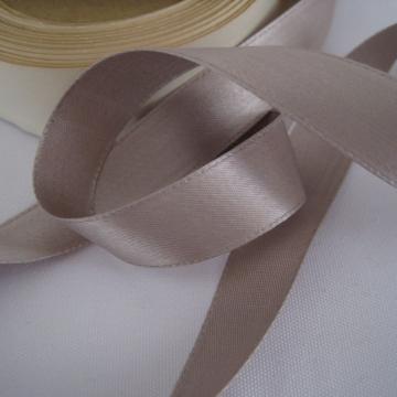 Vintage 30s Gray fabric ribbon Satin Rayon Taupe gray 5/8 inch