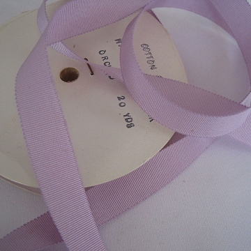 Vintage 30s Petersham ribbon Cotton Rayon Grosgrain ribbon Lavender 5/8 inch wide
