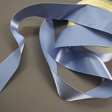 Vintage 30s Slate blue rayon satin ribbon 1 inch wide