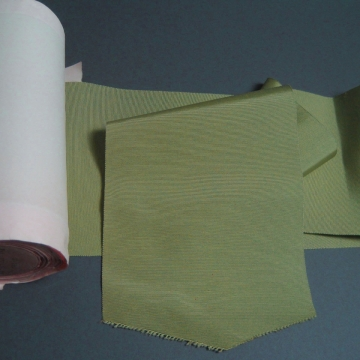 Vintage wide silk faille olive green ribbon 6 5/8 inch wide