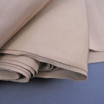 Vintage 30s Wide Petersham ribbon Sashing Rayon Tan Beige 6-1/2 inch wide