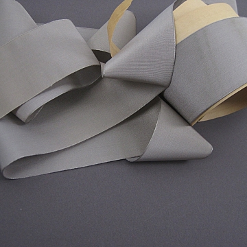 Vintage 20s Rayon and silk Faille ribbon Warm Gray 2 1/4 inch wide